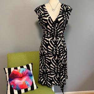 Tory Burch Ivette Leaf Silk Jersey Wrap Dress D8
